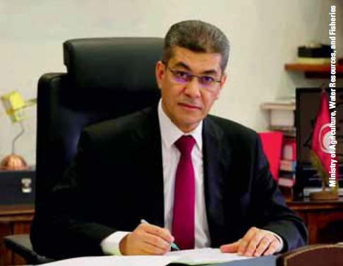 Oussama Kheriji, former Minister of Agriculture, Water Resources, and Fisheries, Tunisia